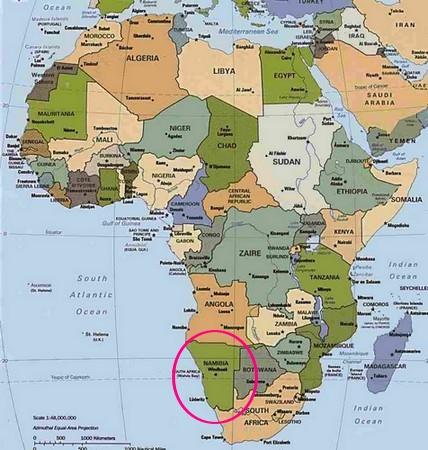 Carte Afrique Du Sud Ouest.Quelques Informations Sur La Namibie Par Clara Dis Papa C Est
