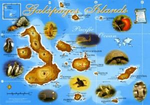 Carte Galapagos Scan carte postale avec Epson 3170, 600dpi